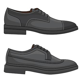 Skórzane buty biurowe