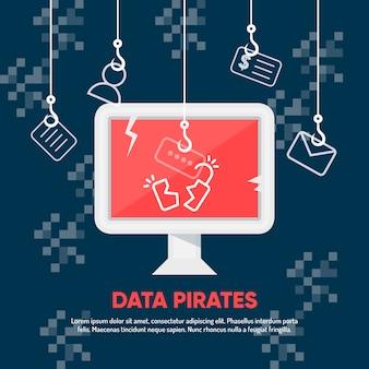 Skradnij motyw ilustracyjny danych