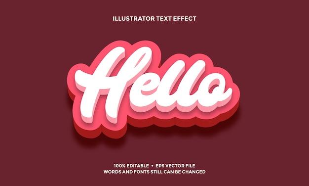Skrypt odręczny efekt tekstowy lub alfabet czcionki biały i różowy nowoczesny