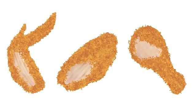 Skrzydełko kurczaka smażone