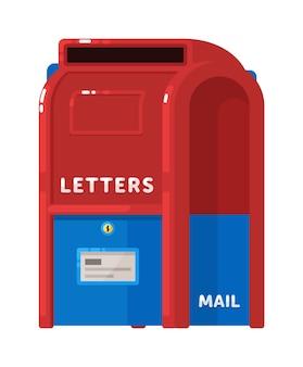 Skrzynka pocztowa list lub poczta na białym tle