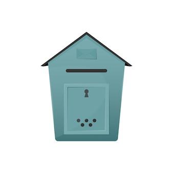 Skrzynka pocztowa z otworem do dostarczania listów i paczek do koncepcji domu