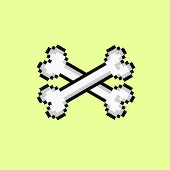 Skrzyżowana kość w stylu pixel art