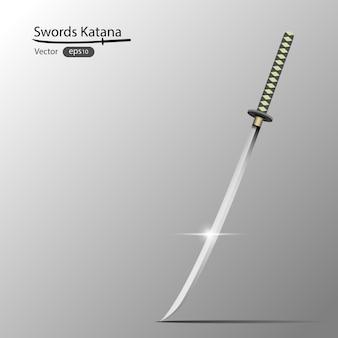 Skrzyżowane japońskie miecze, katana