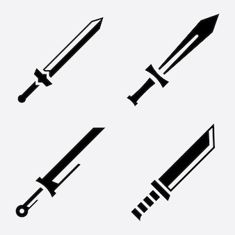 Skrzyżowane miecze wektor ikona ilustracja