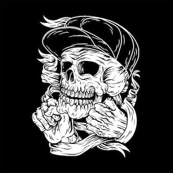 Skull of die symbol