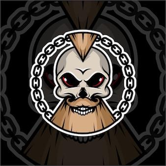 Skull punk z podbródkiem