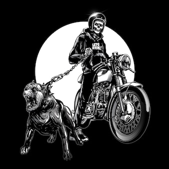 Skull riders z rocznika motocykla