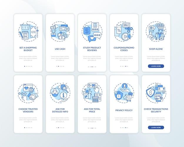 Skuteczne porady zakupowe: wprowadzenie ekranu strony aplikacji mobilnej z koncepcjami