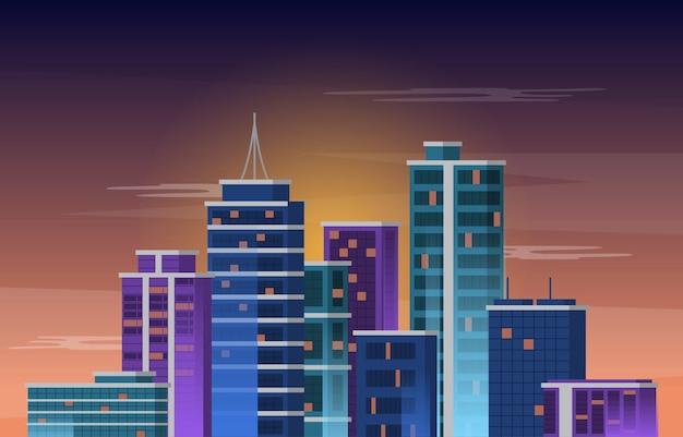 Sky city building construction cityscape skyline biznesowa ilustracja