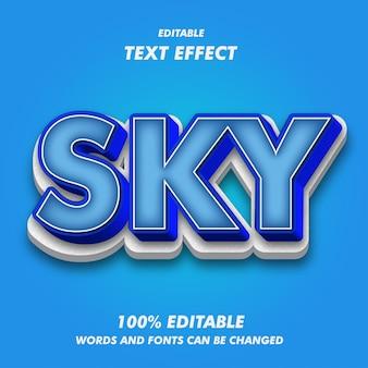 Sky text efekty