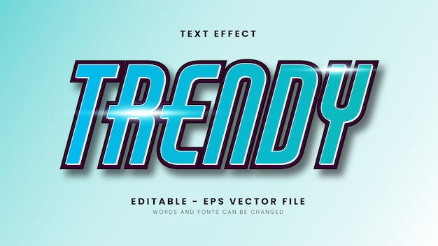 Skyblue trendy efekt tekstowy