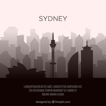 Skyline Sylwetka Miasta Sydney Darmowych Wektorów