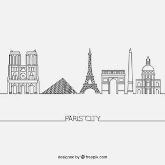 Skyline z paryża