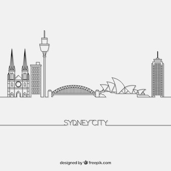Skyline z sydney