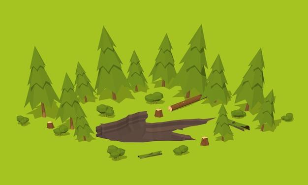 Ślad potwora w lesie