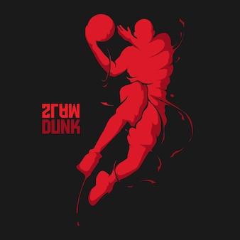 Slam dunk basketball splash