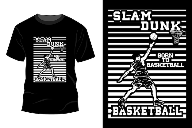 Slam dunk basketball t-shirt makieta projekt sylwetka