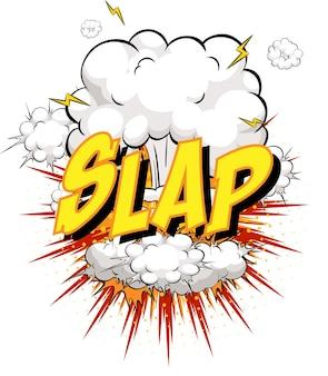 Slap word na chmurze komiksu