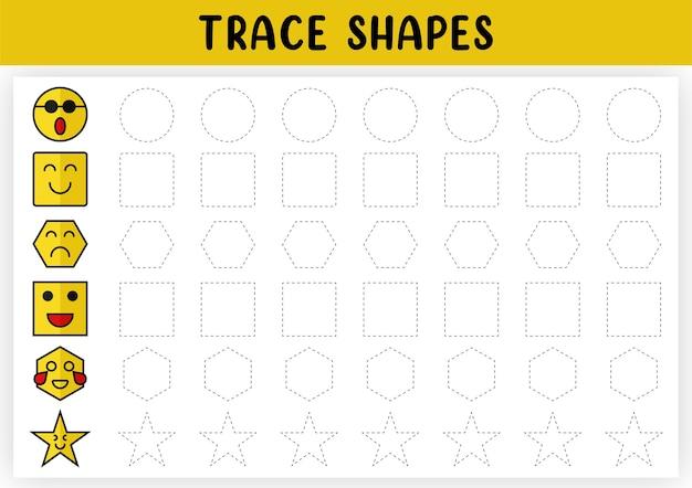 Śledź kształty geometryczne