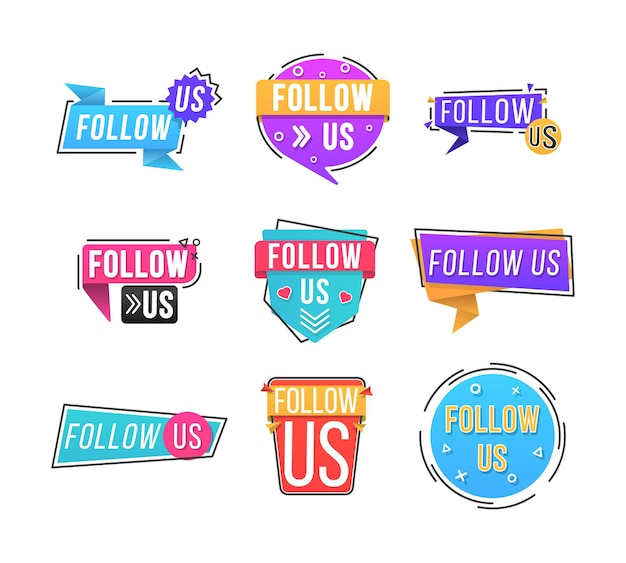 Śledź nas typografię na stronę internetową, baner na blogu i reklamy