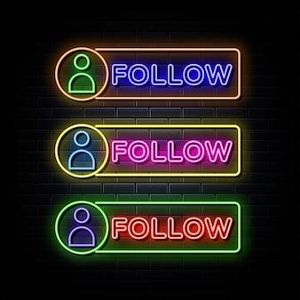 Śledź neon neonowy symbol