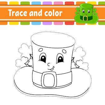 Śledzenie i kolorowanie kolorowanki dla dzieci praktyka pisma ręcznego dzień świętego patryka