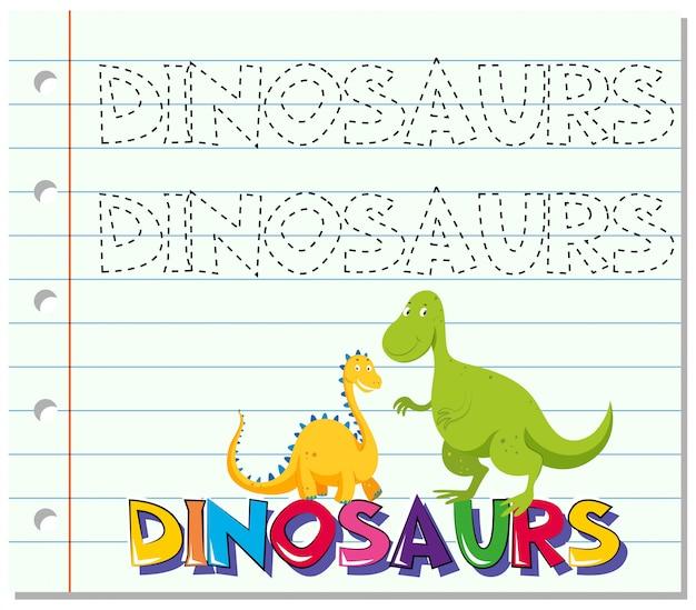 Śledzenie słowa dla dinozaurów