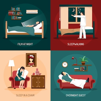 Sleeping poses 2 x 2 design concept