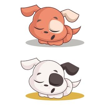 Sleepy dog cartoon