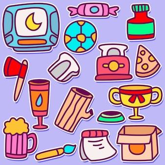 Śliczna doodle projekta ilustracja