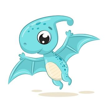 Śliczna dziecko dinosaura ilustracja.
