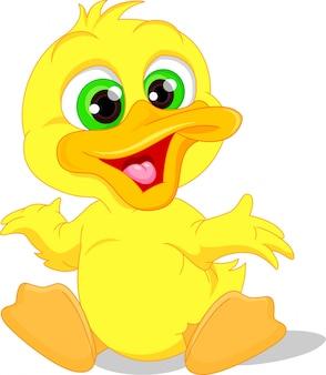 Śliczna dziecko kaczki kreskówka