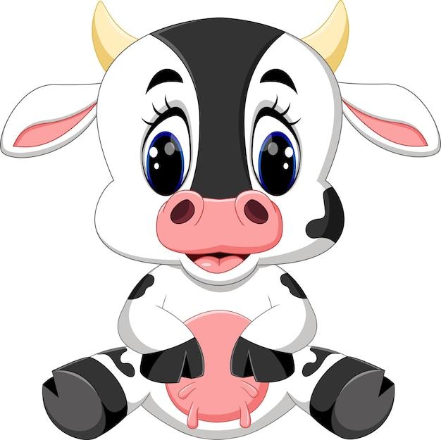 Śliczna dziecko krowy kreskówka