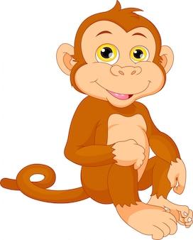 Śliczna dziecko małpy kreskówka