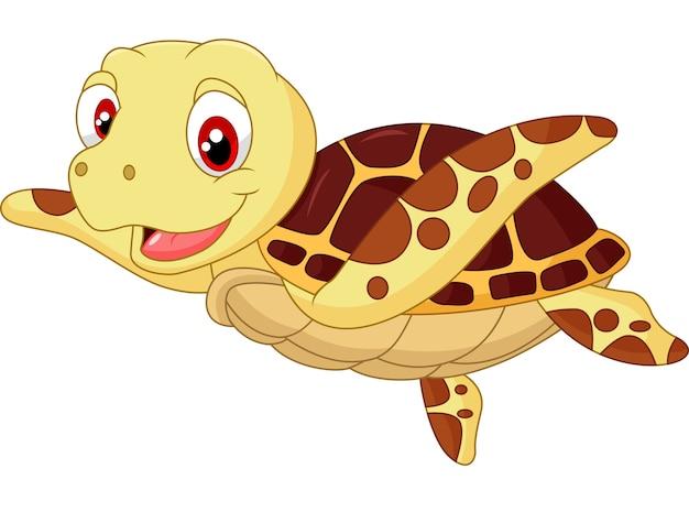 Śliczna dziecko żółwia kreskówka