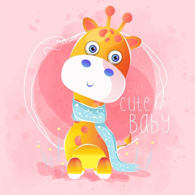 Śliczna dziecko żyrafa