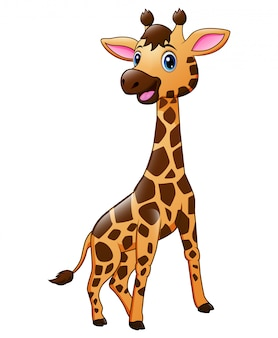 Śliczna dziecko żyrafy zwierzęcia kreskówka