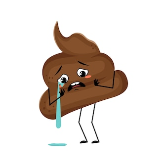 Śliczna gówniana postać z płaczem