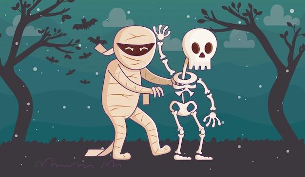 Śliczna halloween ilustracja