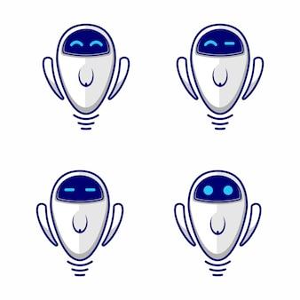 Śliczna ikona sieci web robota lub logo