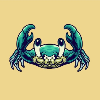 Śliczna ilustracja kraba