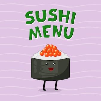 Śliczna ilustracja kuchnia azjatycka.