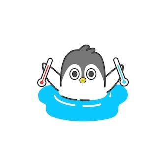 Śliczna ilustracja pingwina