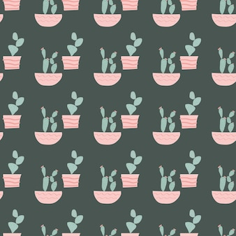 Śliczna ilustracja wzór kaktusa