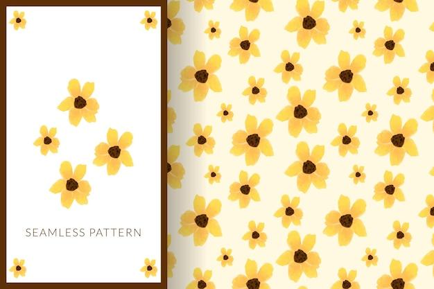 Śliczna ilustracja wzór słonecznika