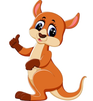 Śliczna kangur kreskówka