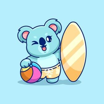 Śliczna koala ikona ilustracja lato