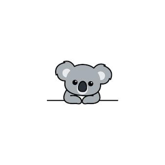 Śliczna koala na ścianie kreskówki