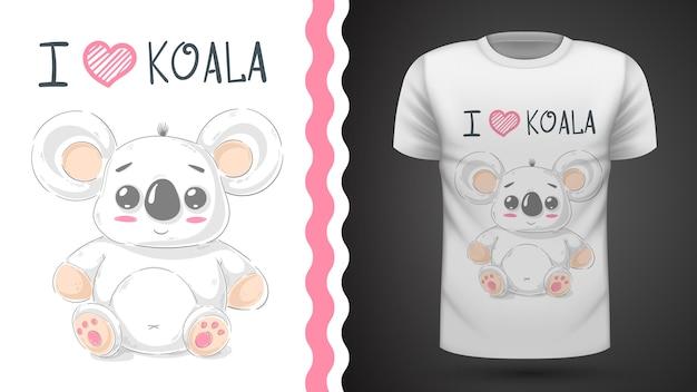 Śliczna koala - pomysł na t-shirt z nadrukiem